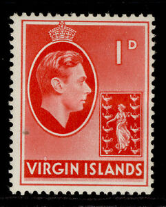 BRITISH VIRGIN ISLANDS GVI SG111a, 1d scarlet, M MINT. ORDINARY