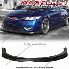 For 06 07 08 Honda Civic 2DR Coupe MDA Style Front Bumper Lip Chin Spoiler