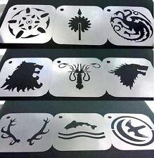 Set of 9pcs Game of Thrones Baratheon Martell Targaryen Lannister Greyjoy Stark