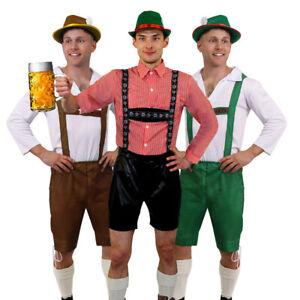 MENS BAVARIAN COSTUME ADULTS OKTOBERFEST GERMAN BEER GUY LEDERHOSEN FANCY DRESS