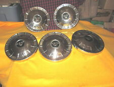 "Vintage 1970's Volvo Hubcaps Set- 5 140 160 series 9.5"" 70135 Chrome Center Caps"