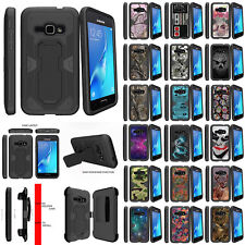 For Samsung Galaxy J1 J120 (2016) Protective Kickstand Clip Dual Layer Case