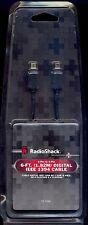 RadioShack® 4-Pin to 4-Pin 6-Foot Digital IEEE 1394 Cable 15-1068 or 1500005