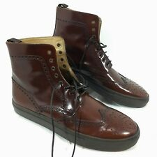 Men's Hydrogen-1 Wingtip Lace Up Crossover sneaker Brown Ankle boots Sz 12 NEW