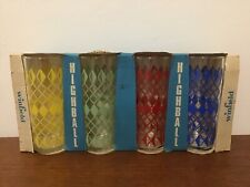 More details for vintage 1960s tumblers drinking glasses unused in original box