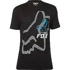 Fox Racing Mens Worn Low Short Sleeve Tee Shirt Black