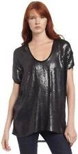 NEW $298 BCBG MAXAZRIA BLACK SEQUIN EMBELLISHED OVERSIZED TOP XS CCX1G796
