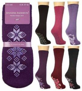 ladies thermal gripped slipper socks size 4-8