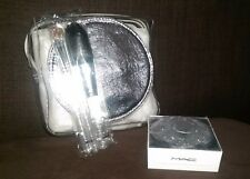 Mac Festive Frost Face Kit Eyeshadow, Blush, Brushes, Bag