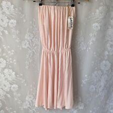 Rachel Pally Strapless Mini Peaches Dress Blush Pink Petal Modal Women's XS NWT