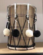 More details for children's size bhangra dhol drum includes sticks & decorations