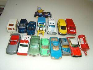 Lot de 17 modèles MAJORETTE : Ferrari Citroen Simca 1100 Capri Unimog AIR FRANCE