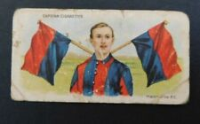 1905 Wills Capstan Cigarette Card Football Club Colours and Flags - Melbourne FC
