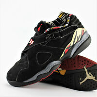 Air Jordan 8 Retro Low GS Playoff Black True Red Del Sol Size 4.5Y 2004'