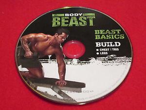 BODY BEAST - Beast Basics + BUILD: Chest + Tri's + Legs - New Fitness DVD *