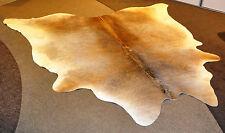 Brazillianische Kuhhaut, Fell, Teppich, Deko, Grau Beige, 220x170cm, groß, Natur
