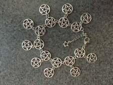 Pentagram Charm Bracelet / Anklet 8-10 inches Tibet Silver
