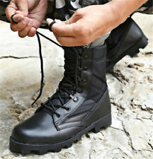Mens Military Outdoor Army Desert Boots Lace Up Zip Breath Combat Work Shoes