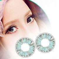 1 Pair Contact Lenses Color Soft Big Eye UV Protection Cosmetic Green Clover #E
