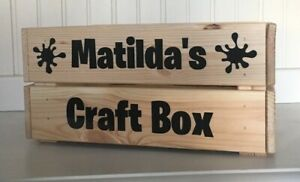 Personalised 'Craft Box' Crate/Box Vinyl Decal Sticker Bundle - Stickers Only