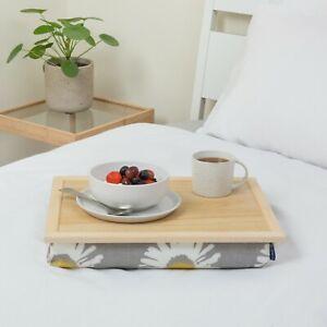 Bean bag lap tray cushioned multipurpose luxury Grey Daisy Blue Badge Company