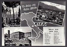 RIETI CARTOLINA UN SALUTO DAL CENTRO D' ITALIA FG VG 1965 - CARTOLERIA MODERNA