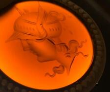 Antique Ancient Roman Carnelian Intaglio Masterpiece Gold Pendant Hand Engraved