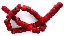 Red Coral Branch 1/2 to 3/4 Inch Long Bead 15 Inch Strand Gem Gemstone cb76