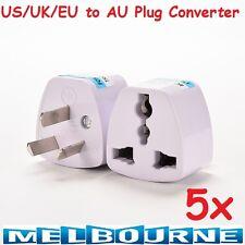 5x Universal Travel Adapter International UK USA EU to AU Australian Power Plugs