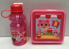 LALALOOPSY 600ML SANDWICH SNAP LUNCH CONTAINER & 414ML DRINK BOTTLE
