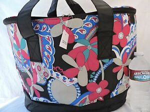 """23"""" Large INSULATED COOLER BAG Beach Pool Travel Picnic Shopping Thermal Tote"""