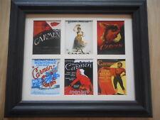 Carmen - 6 Opera Posters In A Mat (Buy Unframed $27 or Framed $50)