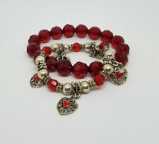 Red Fashion Collection Womens Bracelets Lot of 2