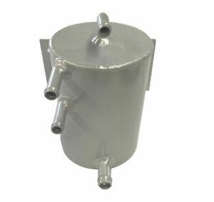 Universal Aluminum Bulkhead Mount Fuel Swirl Pot 1L Silver 135mm x 100mm