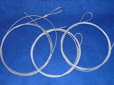 LOT 3.3 mètres CABLE D'ACIER fil de fer ANNEAUX quincaillerie LAMPE suspension