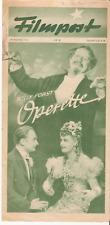 "Filmpost 18  ""Willy Forst's Operette"" Franz Jauner&M.Geistinger-cinema program"
