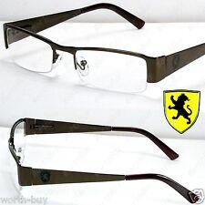 New Khan Clear Lens Eye Glasses Rectangular Frame Mens Womens Bronze Designer RX
