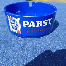 Vintage Pabst Blue Ribbon Plastic Ashtray Rare 3 Sided Pbr Advertisements