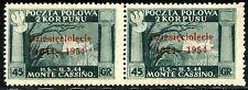 Corpo Polacco 1954 Governo di Londra n. 4 - coppia - varietà (m783)