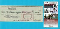 Leo Fender 1965 Autographed Signed Personal Check JSA COA Fender Stratocaster