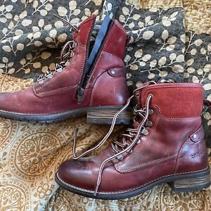 Taos red combat boots