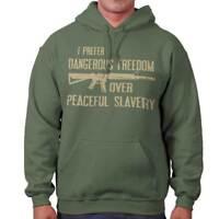 Dangerous Freedom Over Peaceful Slavery Arms Adult Long Sleeve Hoodie Sweatshirt