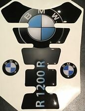 Motorcycle Tank Pad Protector Sticker | (Bmw) R1200R Black with side Stickers