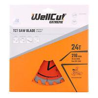 WellCut TCT Saw Blade 216mm x 24T x 30mm Bore For LS0815, DWS777, DWS774, C8FSR