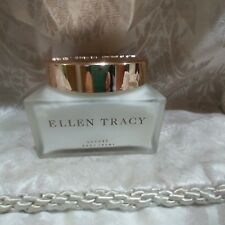 Ellen Tracy luxury body creme vintage hard to find glass jar 9 oz