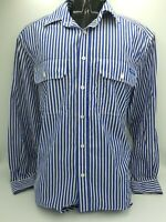 RM WILLIAMS Mens Stockyard Long Sleeve Relaxed Fit Striped Shirt Size S