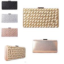 Ladies Pearl Box Clutch Bag Girls Gem Prom Party Bag Wedding Handbag Purse MMX95