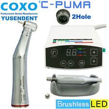 NEW Dental LED Electric Mini Micro Motor C PUMA & 1:5 Fiber Optical Contra Angle