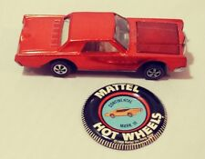 Vintage 1968 Hot Wheels Redline Custom Continental Mark III Red with Button Nice