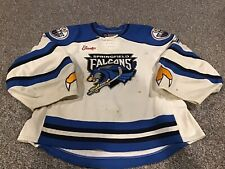 Springfield Falcons Jersey Game Worn Used AHL Goalie Dany Sabourin John Hallas